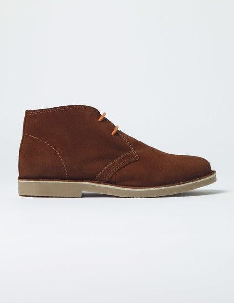 Suede Desert Boots Walnut Boys Boden