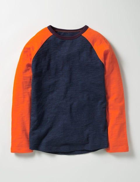 Raglan T-shirt Navy Marl Boys Boden