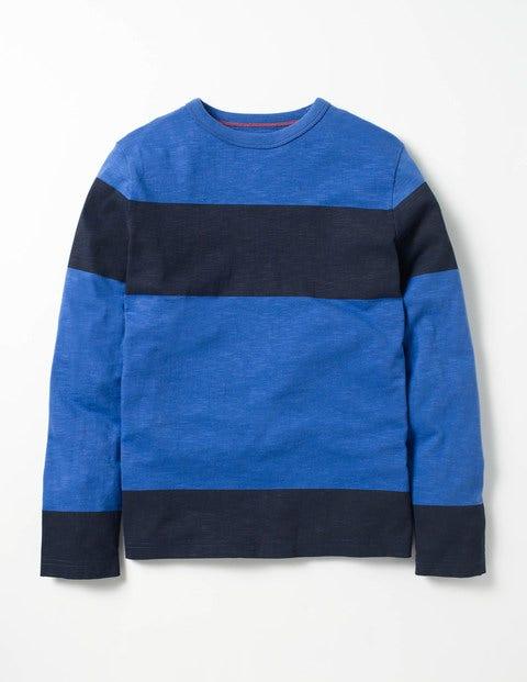 Slub Stripe T-shirt Gymnasium Blue/Navy Boys Boden