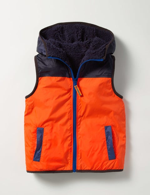 Cosy Reversible Gilet Red Boys Boden, Red