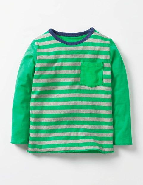 Reversible Animal T-shirt Astro Green Snail Boys Boden