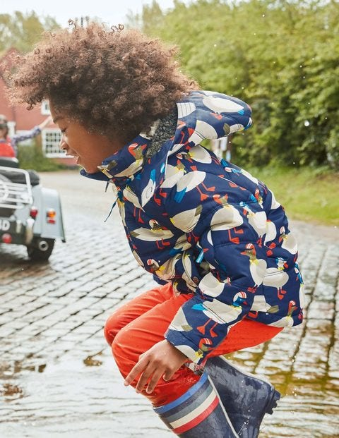 Fun Padded Jacket - Swedish Blue Ducks