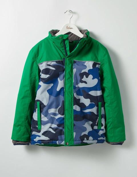 All-weather Waterproof Jacket Crocodile Green/Camo Boys Boden
