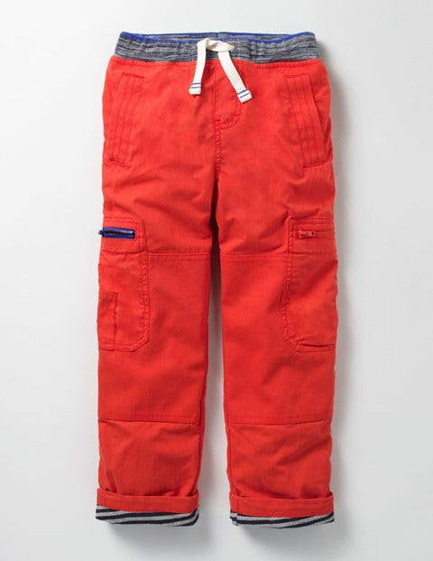 Lined Pull-On Cargos - Ziggy Red