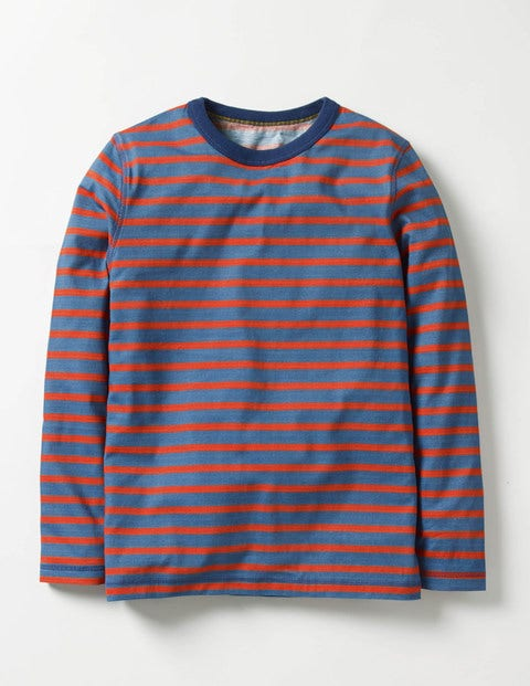 Supersoft T-shirt Space Blue/Ziggy Red Boys Boden