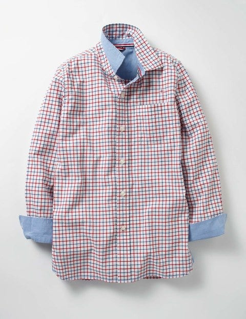Laundered Shirt - Klein Blue/Red Tattersall