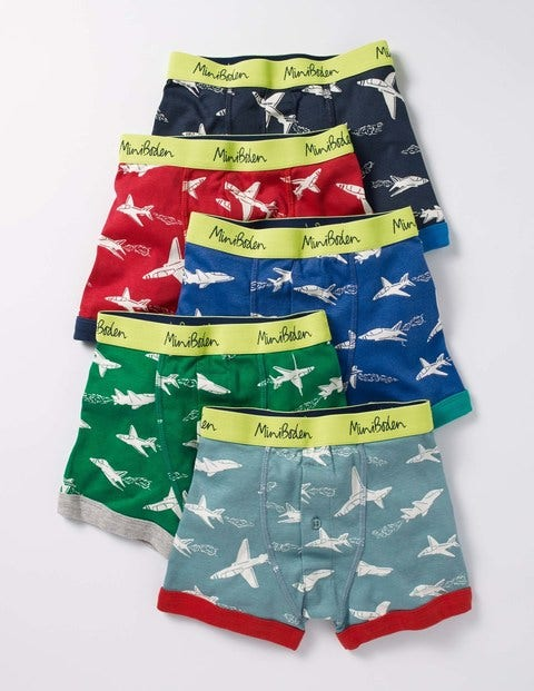 5 Pack Boxers Jets Boys Boden