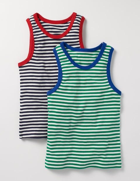 2 Pack Tanks Christmas Green/Navy Boys Boden