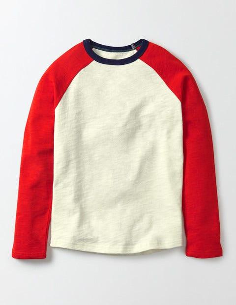 Raglan T-shirt Mini Ecru Boys Boden, Mini Ecru