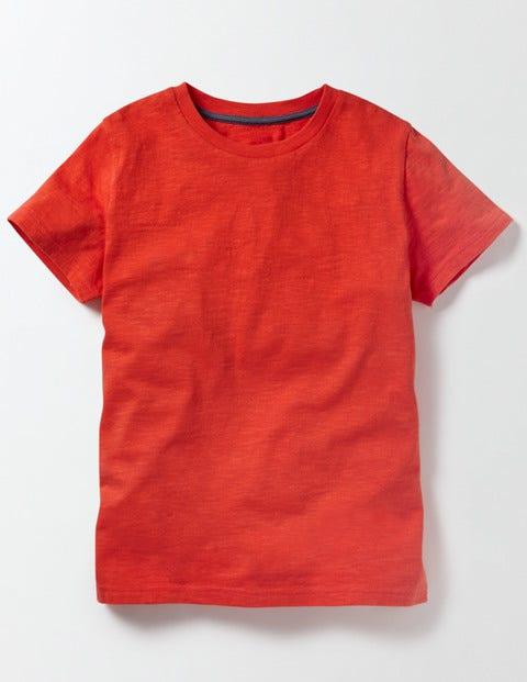 Slub Washed T-shirt Ziggy Red Boys Boden