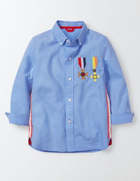 Bonaparte Shirt Wave Blue Boys Boden, Wave Blue