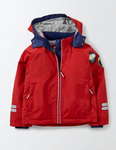 Jersey Lined Anorak Salsa Red Boys Boden Salsa Red