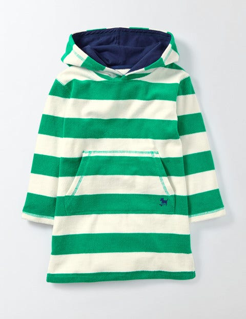 Towelling Throwon Astro Green and Ivory Stripe Boys Boden Astro Green and Ivory Stripe