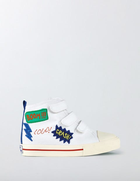 Canvas High Tops White Boys Boden White