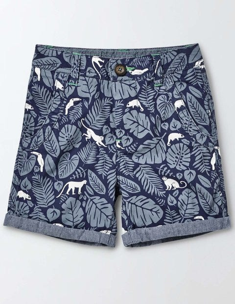 Roll Up Shorts - Beacon Monkey Palm