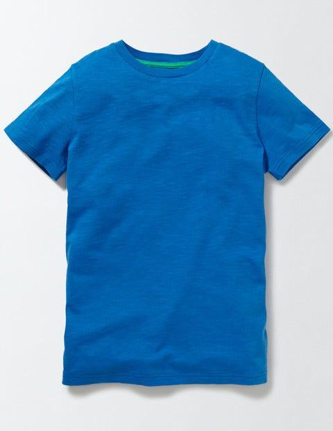 Slub Washed T-shirt Skipper Boys Boden, Blue