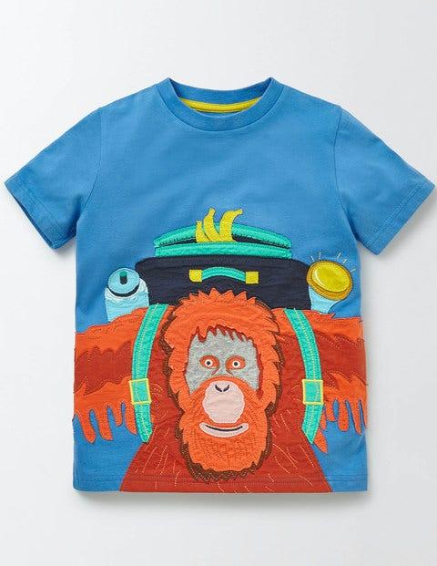 Jungle Appliqué T-shirt Skipper Boys Boden
