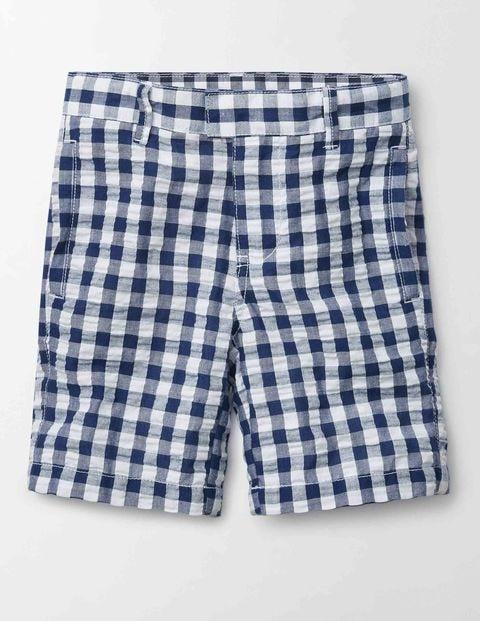 Smart Shorts Navy Gingham Boys Boden