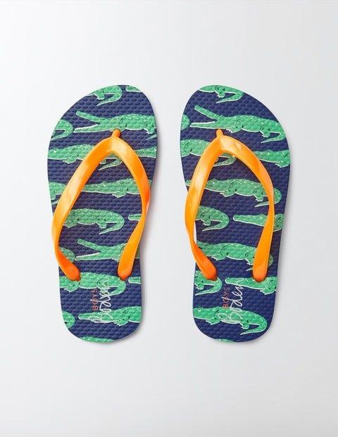 Printed Flip Flops Astro Green Crocs Boys Boden