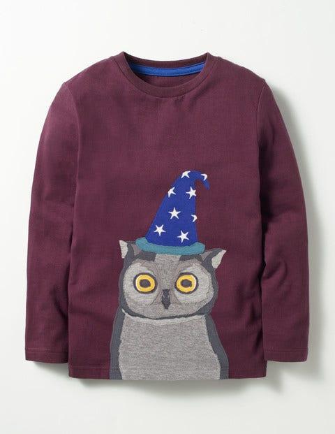 Animal Kingdom T-shirt Roman Purple Wizard Owl Boys Boden