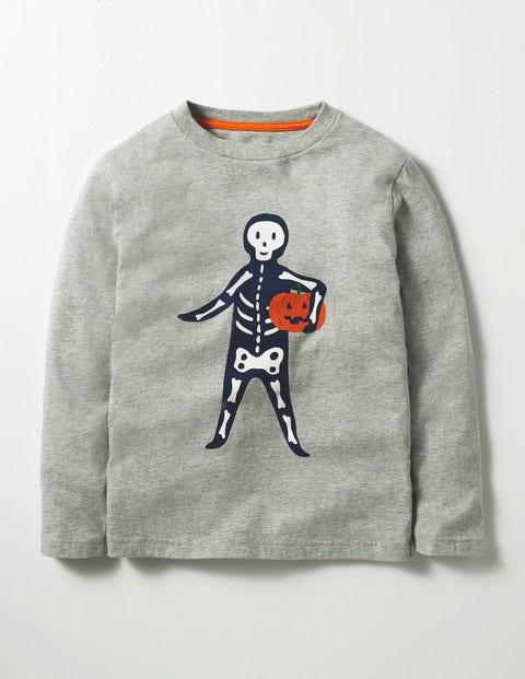Spooky Glow T-shirt Grey Boys Boden, Grey