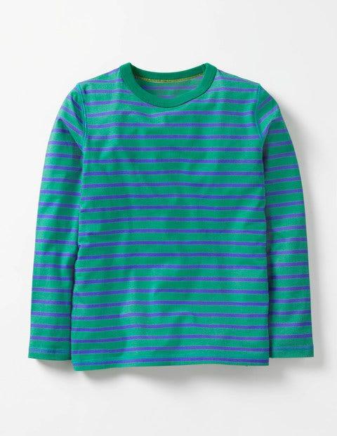 Supersoft T-shirt Wild Green/Gymnasium Blue Boys Boden