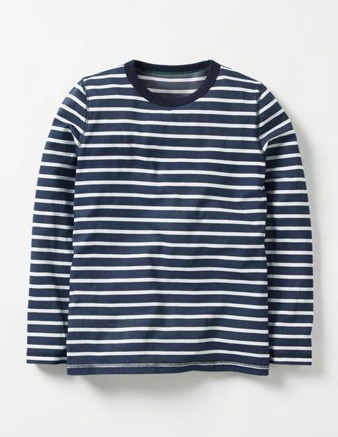 Supersoft T-shirt Navy/Ecru Boys Boden
