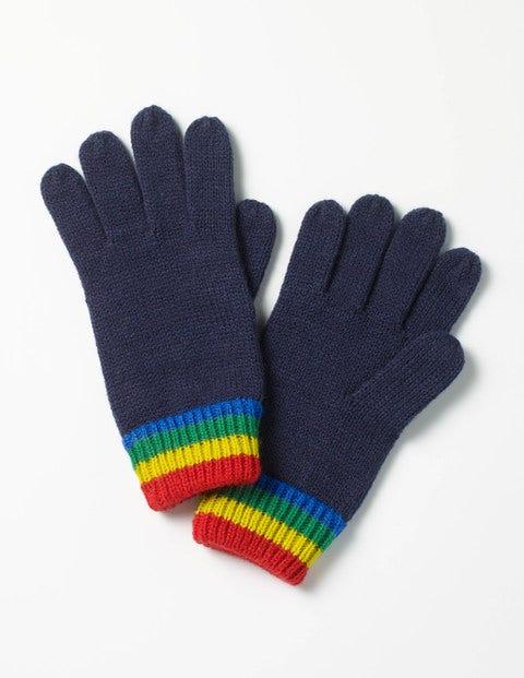 Knitted Gloves Navy Boys Boden
