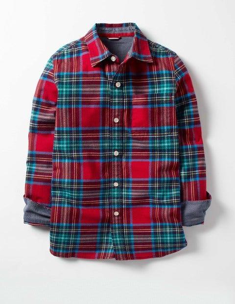 Cosy Festive Shirt Beatnik Red Check Boys Boden