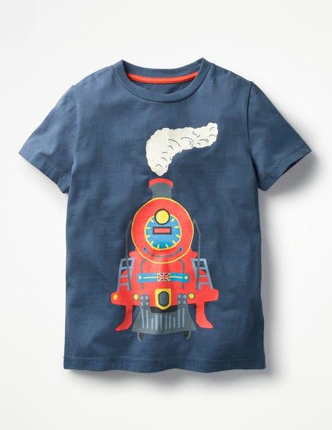Classic Printed T-Shirt - Beacon Blue Train