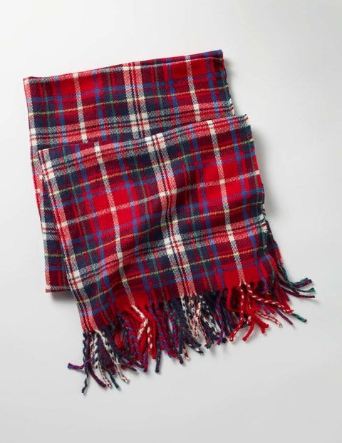 Woven Scarf Red Girls Boden, Red