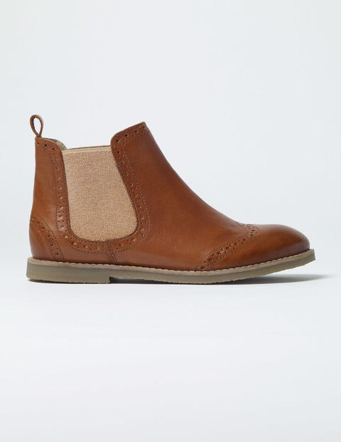 Leather Chelsea Boots Tan Girls Boden
