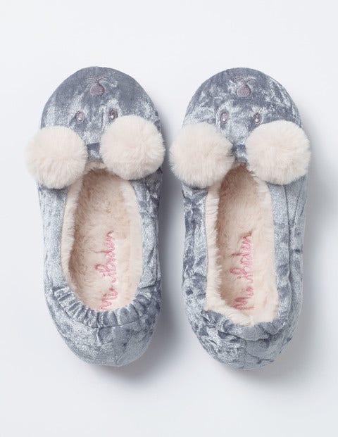 aa630c2cb3e Velvet Bear Slippers - Frosted Blue