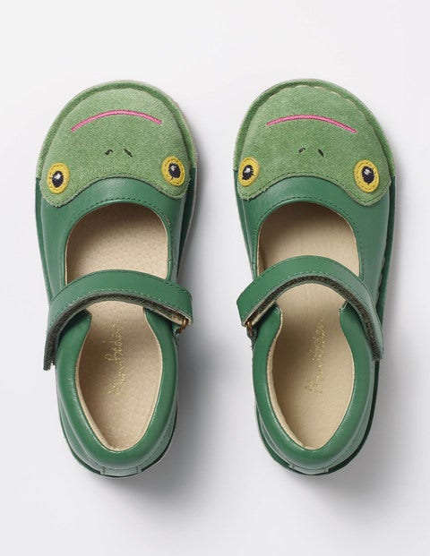 Leather Mary Janes Greenhouse Green Frog Girls Boden