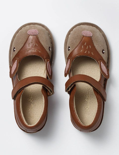 Leather Mary Janes - Tan Deer