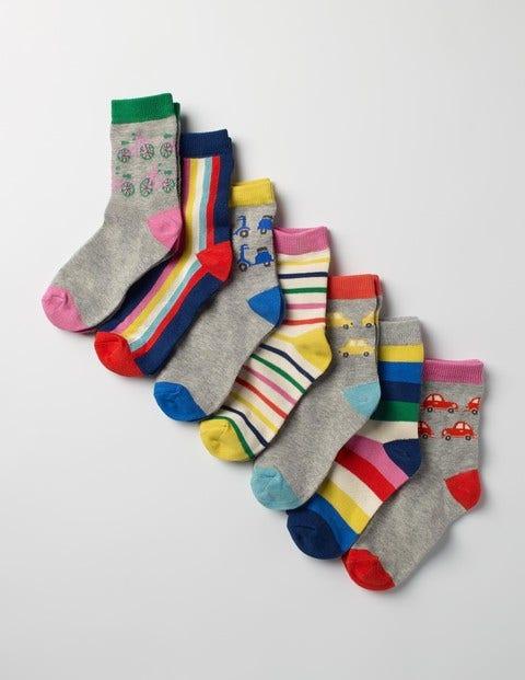 7 Pack Sock Box Transport Rainbow Girls Boden