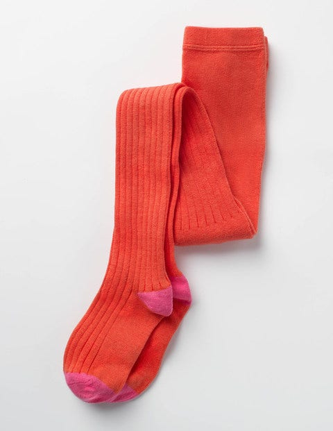 Ribbed Tights Jam Red Girls Boden
