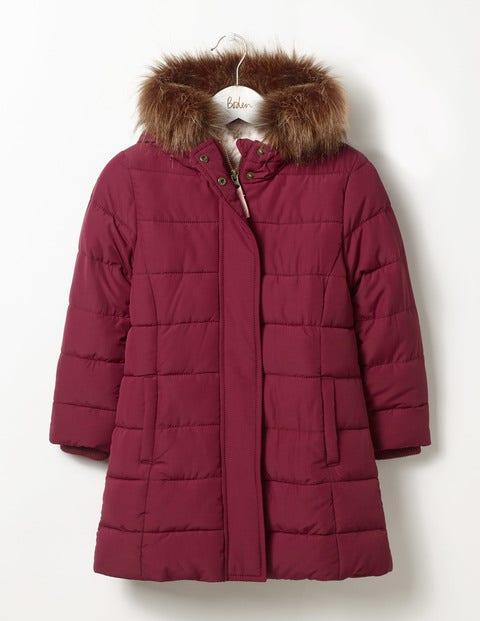 Long Padded Jacket Mulberry Purple Girls Boden