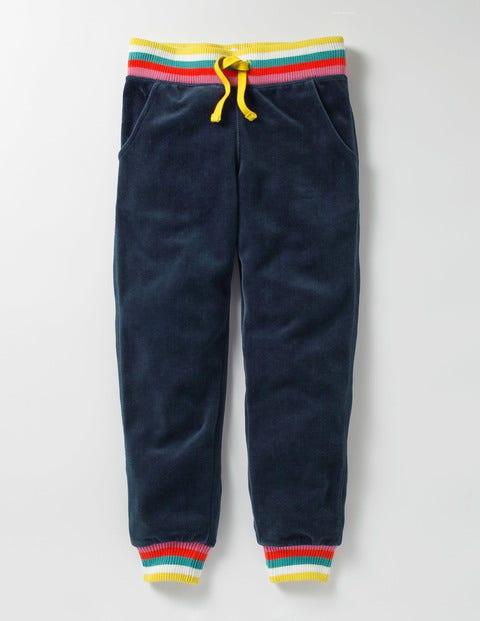 Velour Sweatpants School Navy Girls Boden