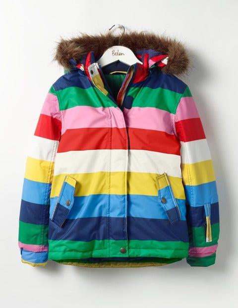 All-weather Waterproof Jacket Multi Rainbow Girls Boden