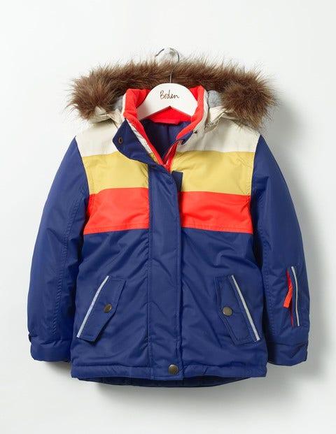 All-weather Waterproof Jacket Dark Blue/Multi Girls Boden