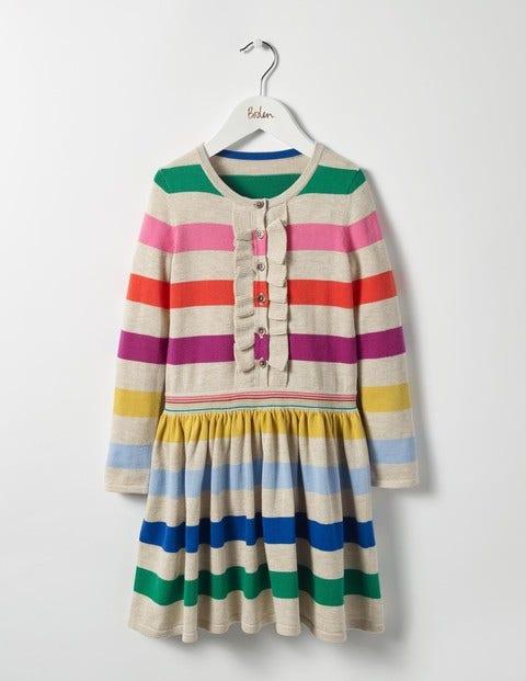 Rainbow Knitted Dress Multi Rainbow Girls Boden