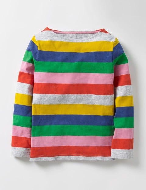 Colourfully Stripy T-shirt Multi Rainbow Girls Boden