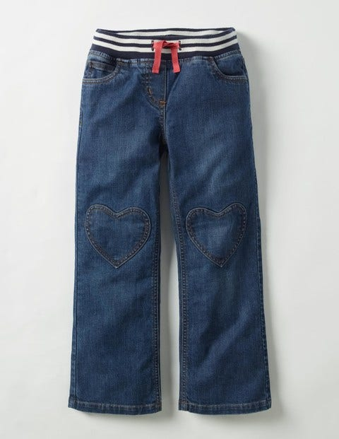 Heart Patch Pants Mid Vintage Girls Boden