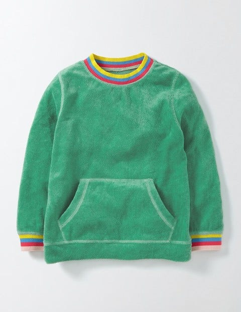 Towelling Sweatshirt Wasabi Green Girls Boden