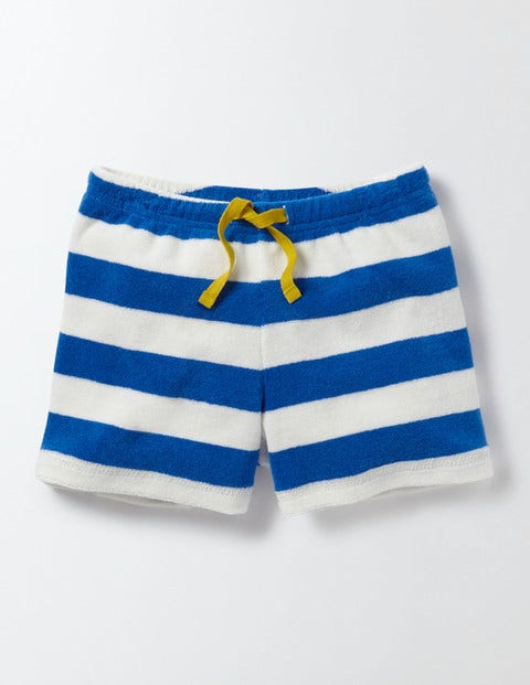 Adventure Towelling Shorts - Skipper/Ivory Stripe