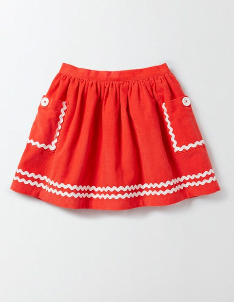 Twirly Nautical Skirt Rosehip Girls Boden