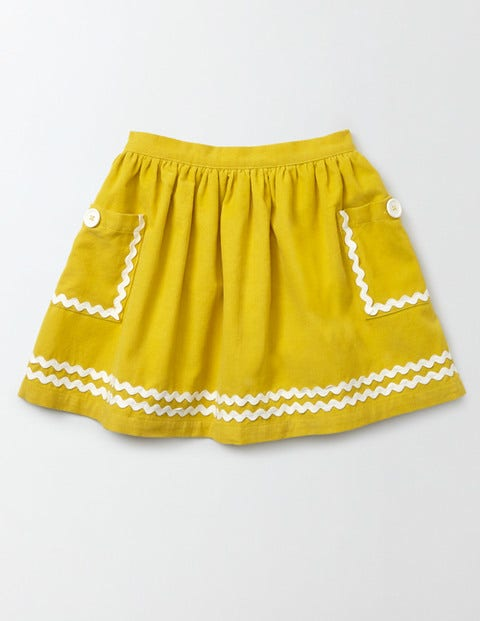 Twirly Nautical Skirt Mimosa Yellow Girls Boden