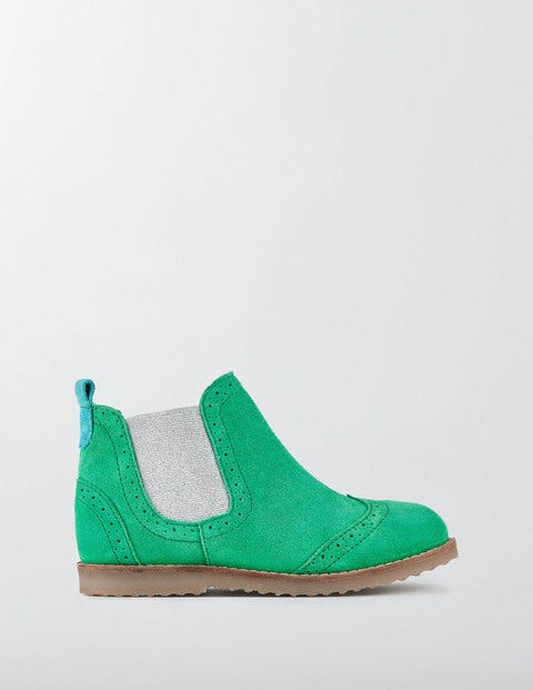Leather Chelsea Boots Astro Green Girls Boden Astro Green