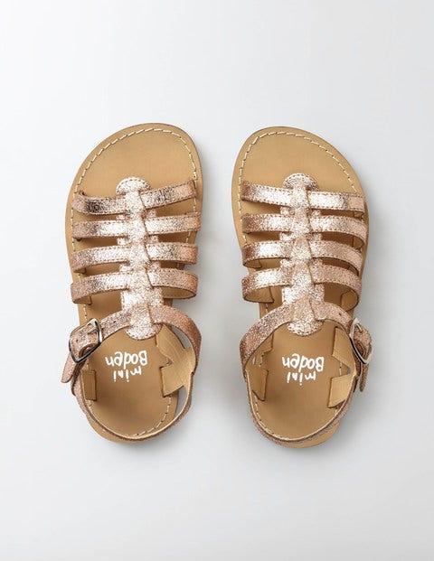 Leather Gladiator Sandals Rose Gold Girls Boden